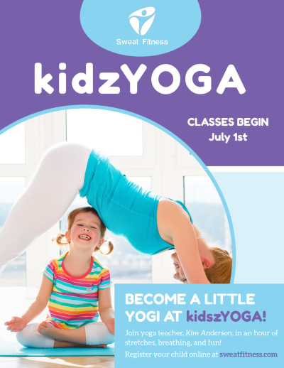 Kids Yoga Flyer Template Preview 1