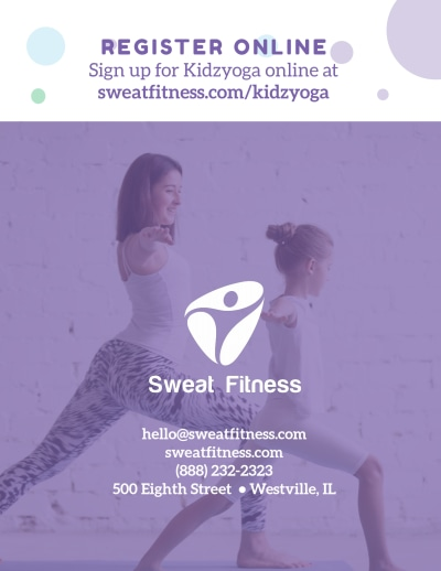 Kids Yoga Flyer Template Preview 2