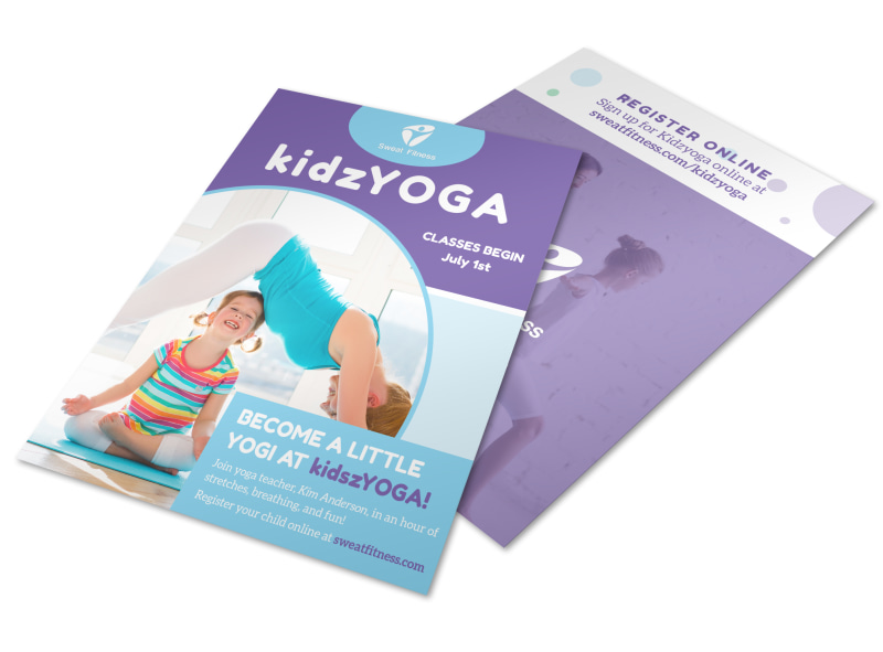 Kids Yoga Flyer Template  Mycreativeshop