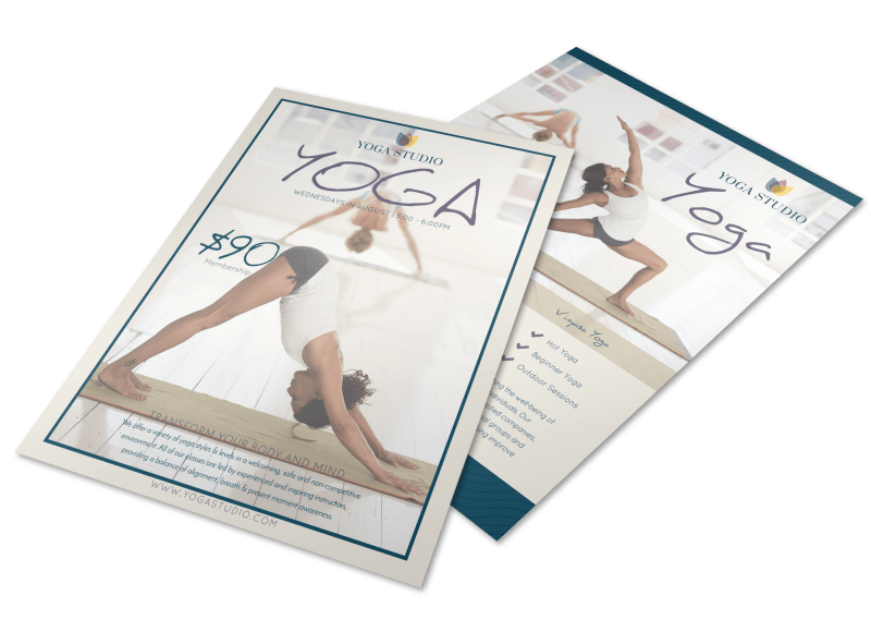 Yoga Class Details Flyer Template Preview 1
