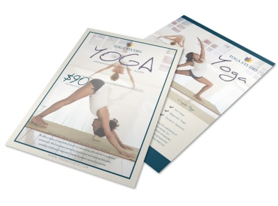 Yoga Class Details Flyer Template preview