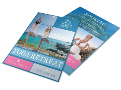 Yoga Retreat Flyer Template preview