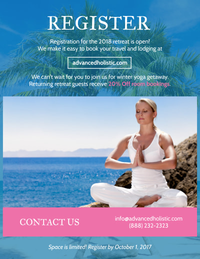 Yoga Retreat Flyer Template Preview 2