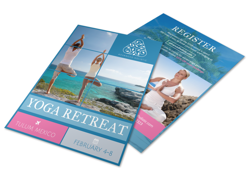 Yoga Retreat Flyer Template Preview 1