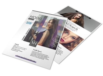 Fashion Model Search Flyer Template preview