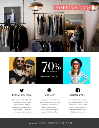 Fashion Clothing Sale Flyer Template Preview 2