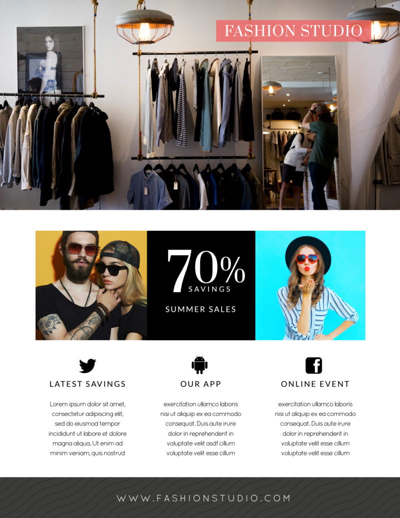 Fashion Clothing Sale Flyer Template Preview 3
