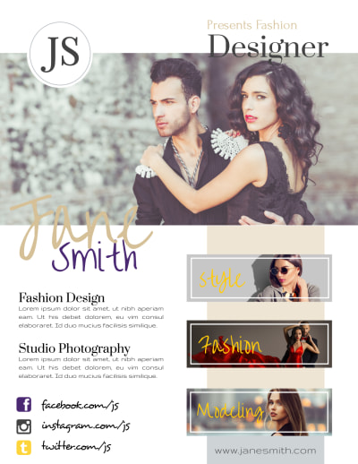 Creative Fashion Designer Flyer Template Preview 1
