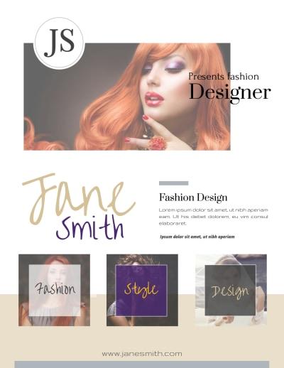 Creative Fashion Designer Flyer Template Preview 2
