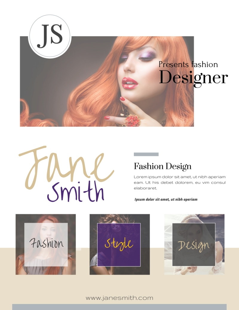 Creative Fashion Designer Flyer Template Preview 3