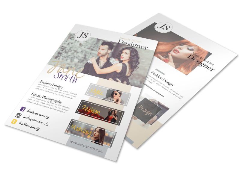 Creative Fashion Designer Flyer Template Preview 1