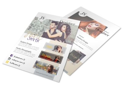 Creative Fashion Designer Flyer Template preview