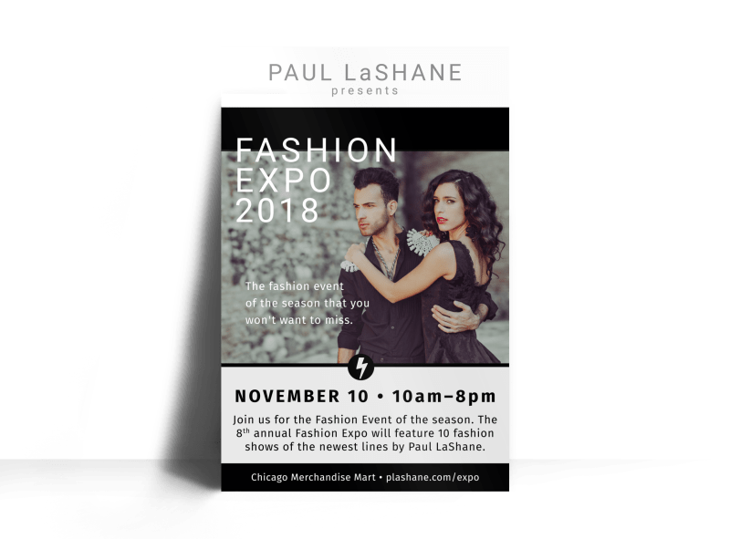 Fashion Expo Poster Template Preview 1