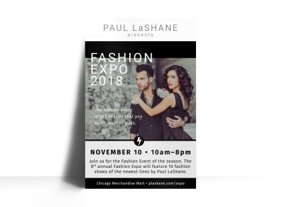 Fashion Expo Poster Template preview