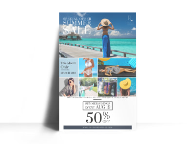 Summer Clothing Sale Poster Template