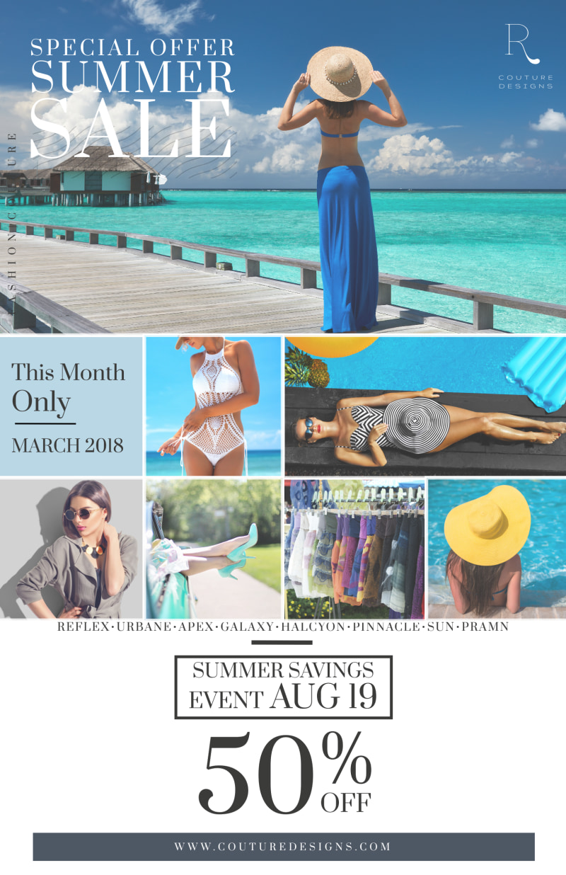 Summer Clothing Sale Poster Template Preview 2