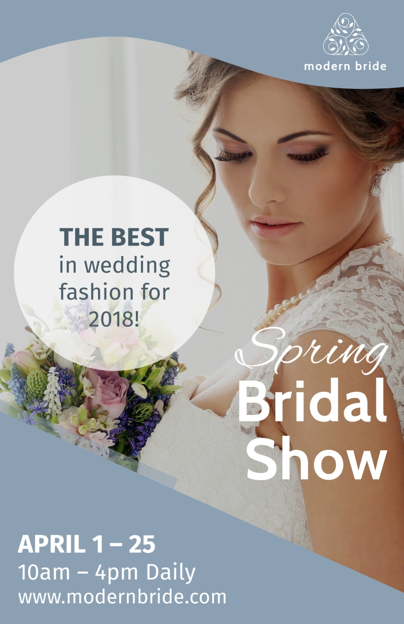 Fashion Bridal Show Poster Template Preview 2