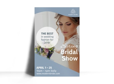 Fashion Bridal Show Poster Template