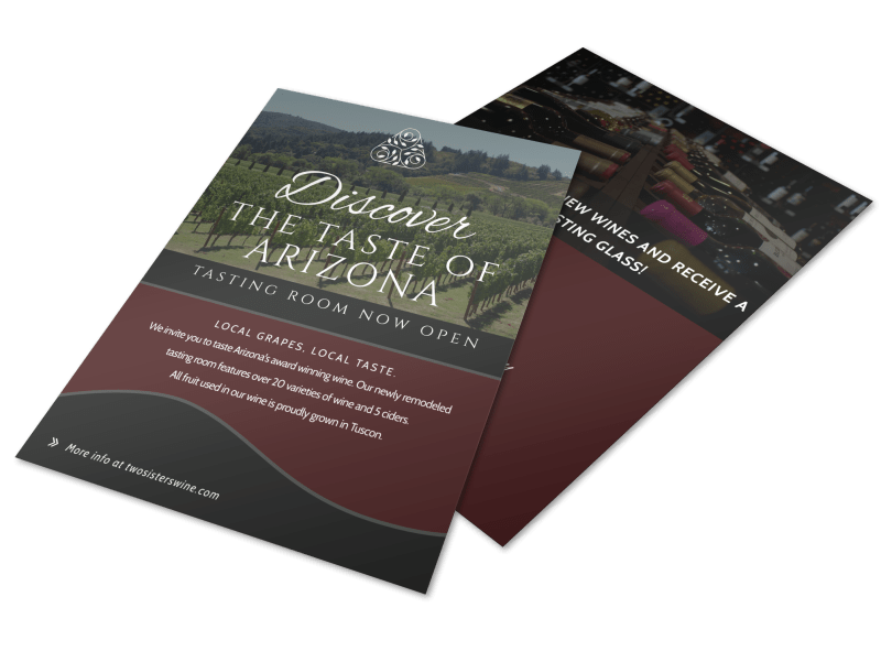 Arizona Wine Tasting Flyer Template Preview 1