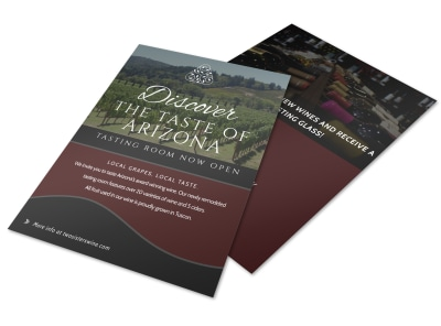 Design custom wine flyers online mycreativeshop for Wine brochure template