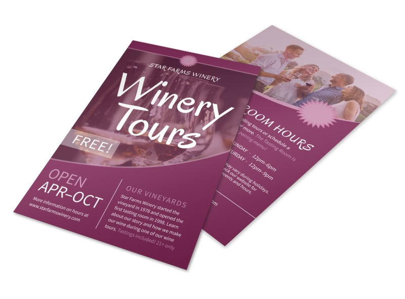 Star Farms Winery Tour Flyer Template