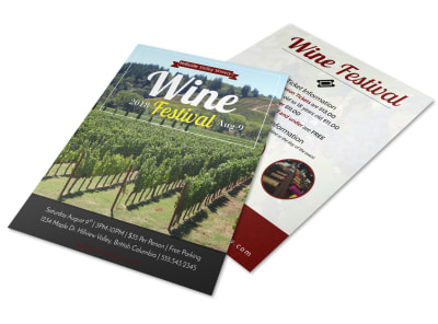 Hillview Wine Festival Flyer Template preview