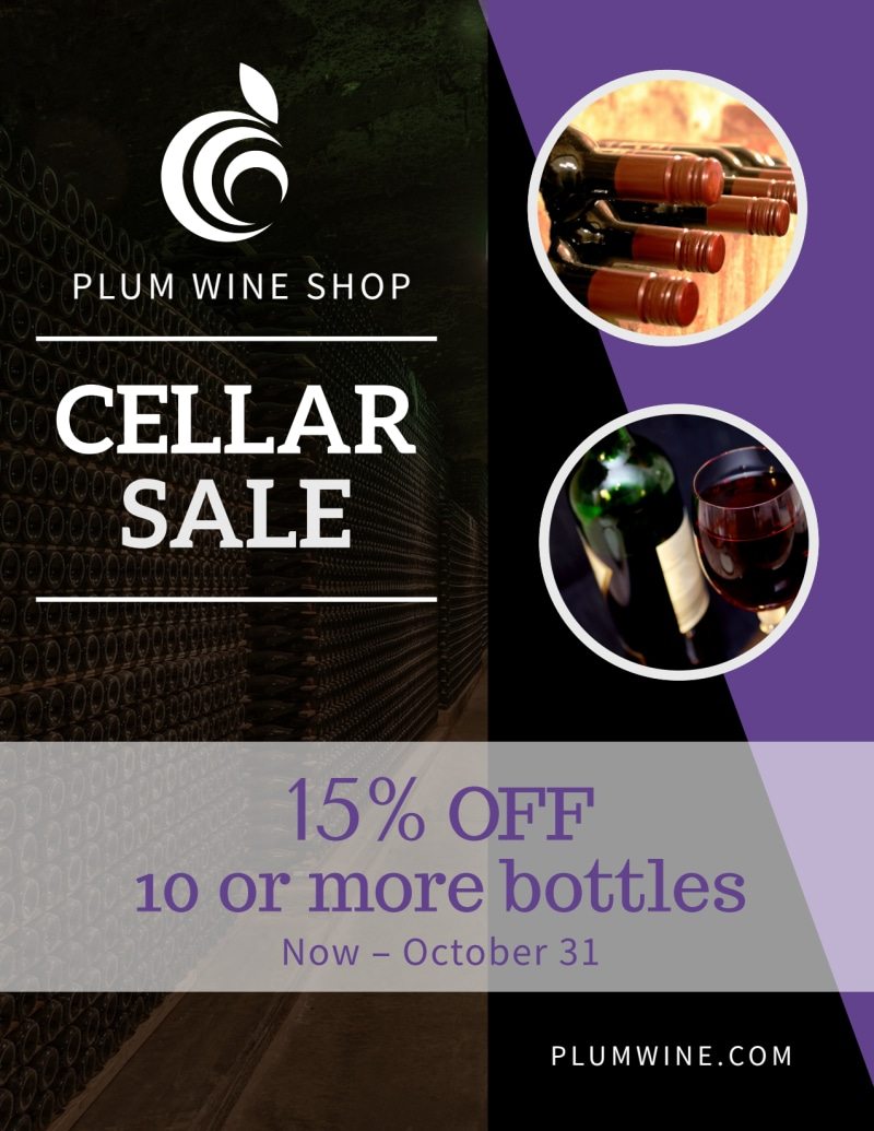 Wine Cellar Sale Flyer Template Preview 2