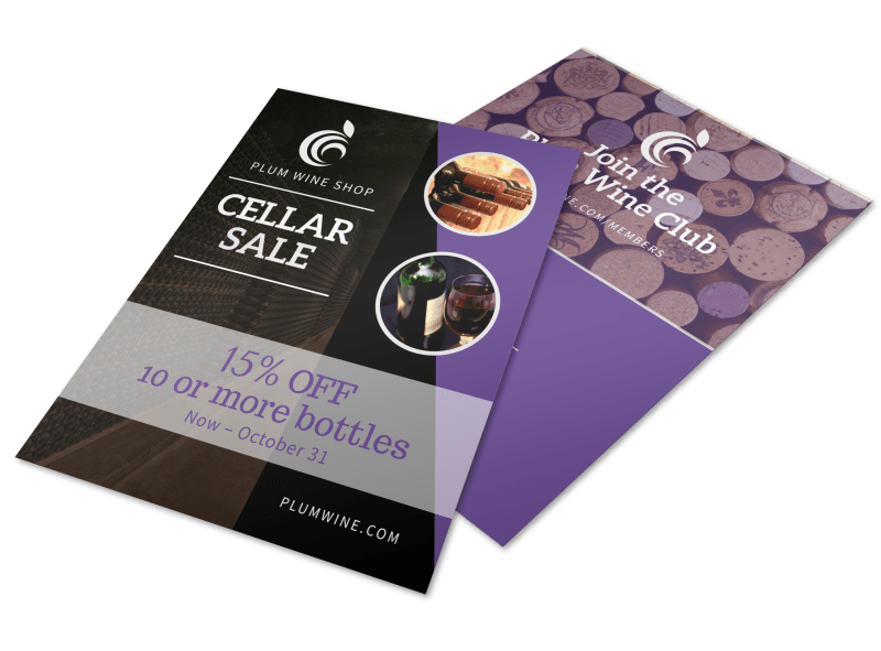 Wine Cellar Sale Flyer Template Preview 1