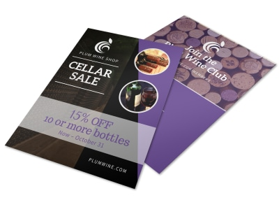 Wine Cellar Sale Flyer Template preview