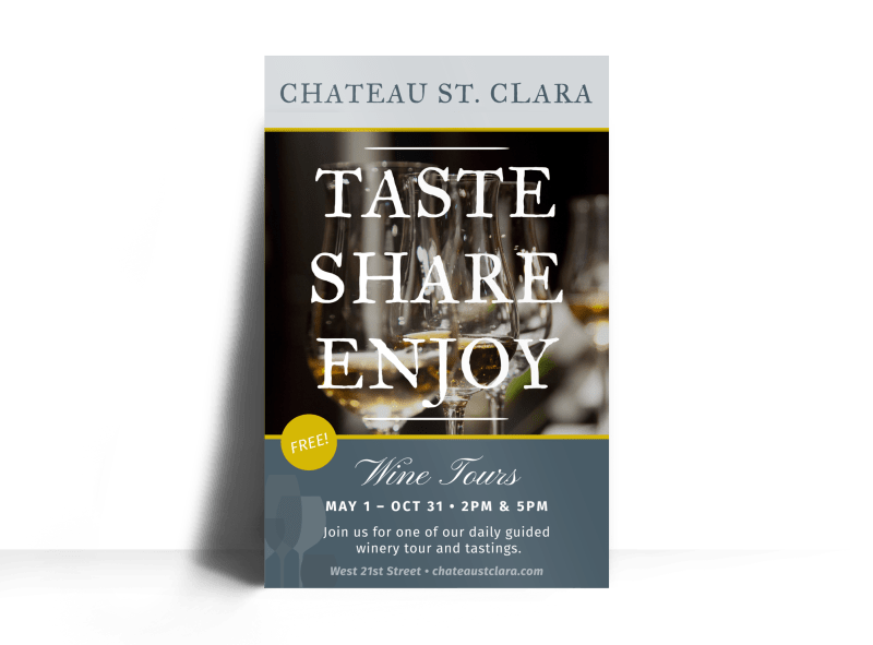 St. Clara Wine Tasting Poster Template Preview 1