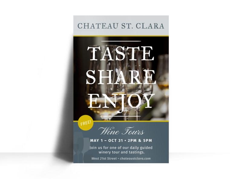 St Clara Wine Tasting Poster Template