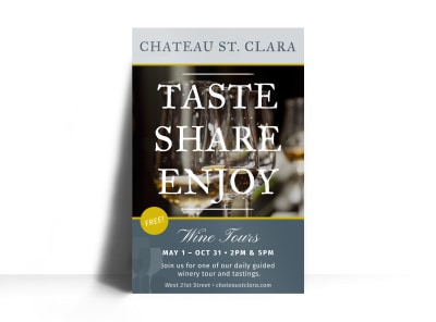 St. Clara Wine Tasting Poster Template preview
