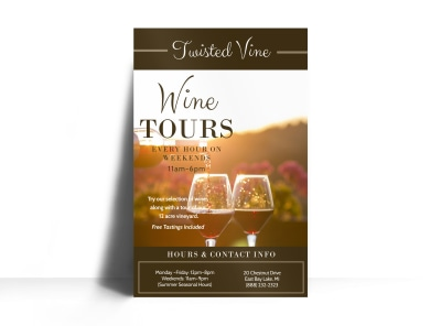 Twisted Vine Wine Tour Poster Template