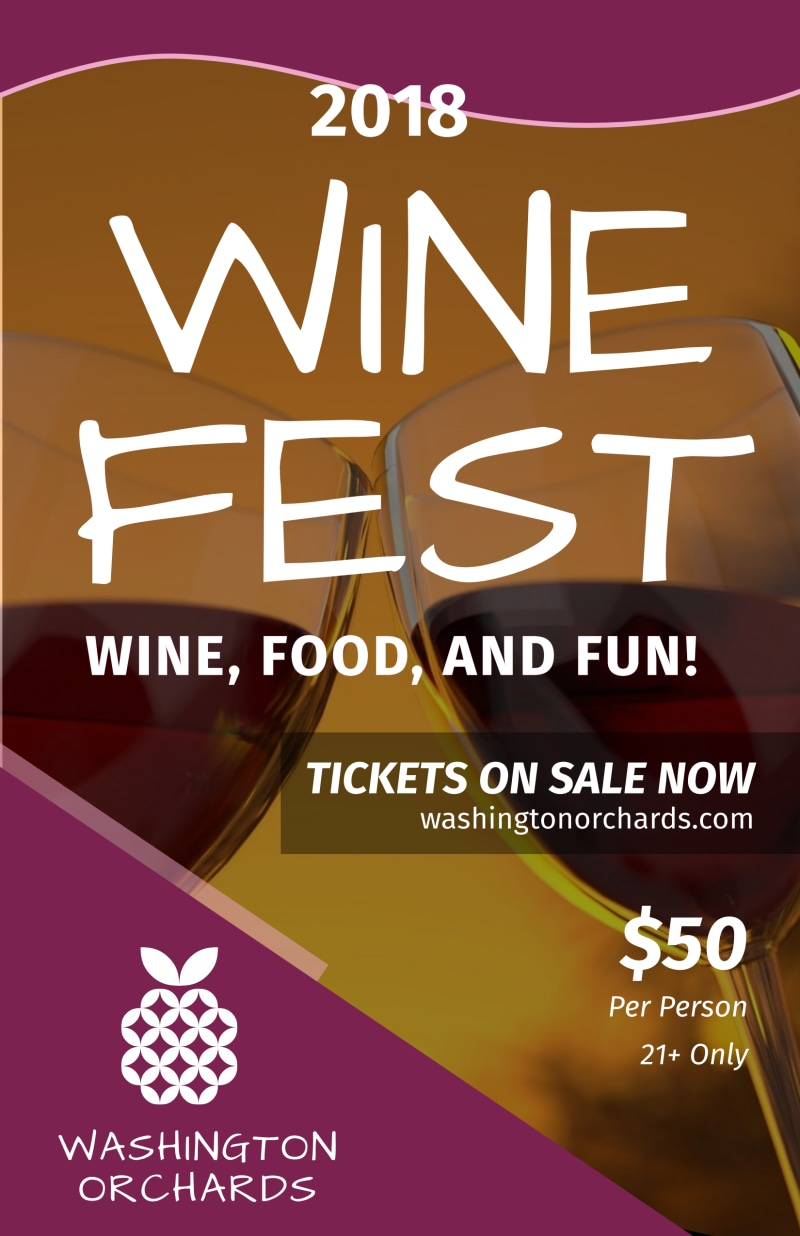 Washington Wine Festival Poster Template Preview 2