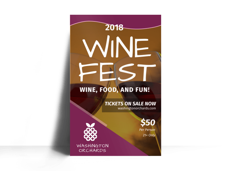 Washington Wine Festival Poster Template Preview 1