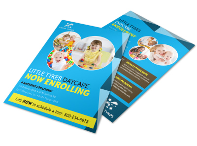 Daycare Now Enrolling Flyer Template preview