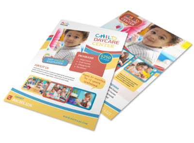 Child Daycare Center Flyer Template preview