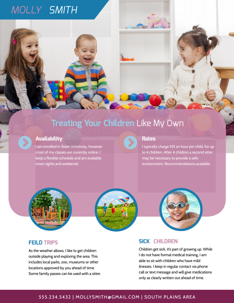 Trusted Babysitting Flyer Template Preview 3