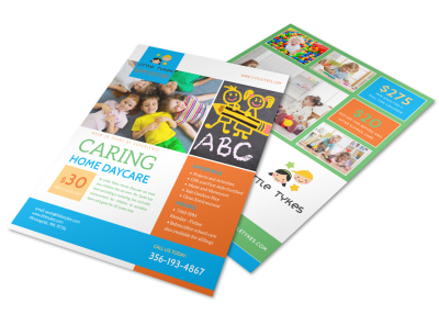 Caring Home Daycare Flyer Template preview