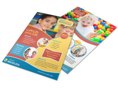 Child Daycare About Us Flyer Template preview