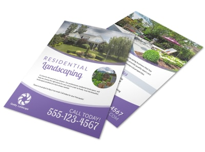 Luxury Residential Landscaping Flyer Template preview