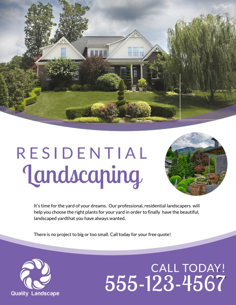Luxury Residential Landscaping Flyer Template Preview 2