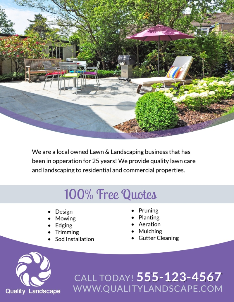 Luxury Residential Landscaping Flyer Template Preview 3