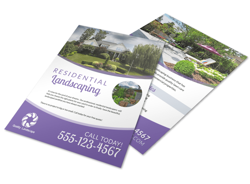 Luxury Residential Landscaping Flyer Template Preview 1