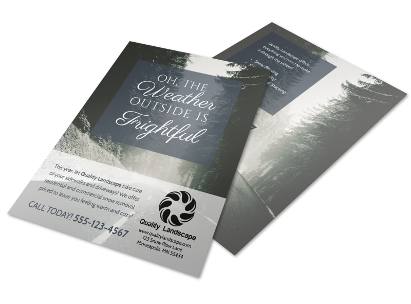 Snow Removal Flyer Template Preview 4