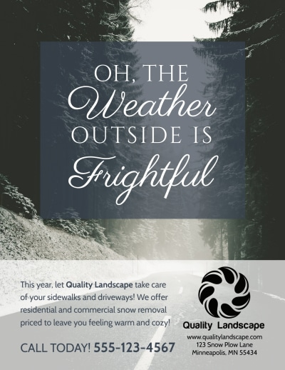 Snow Removal Flyer Template Preview 1