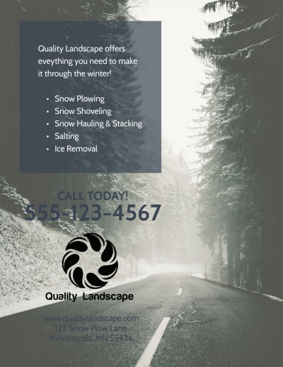 Snow Removal Flyer Template Preview 2
