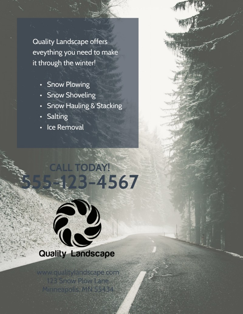 Snow Removal Flyer Template Preview 3