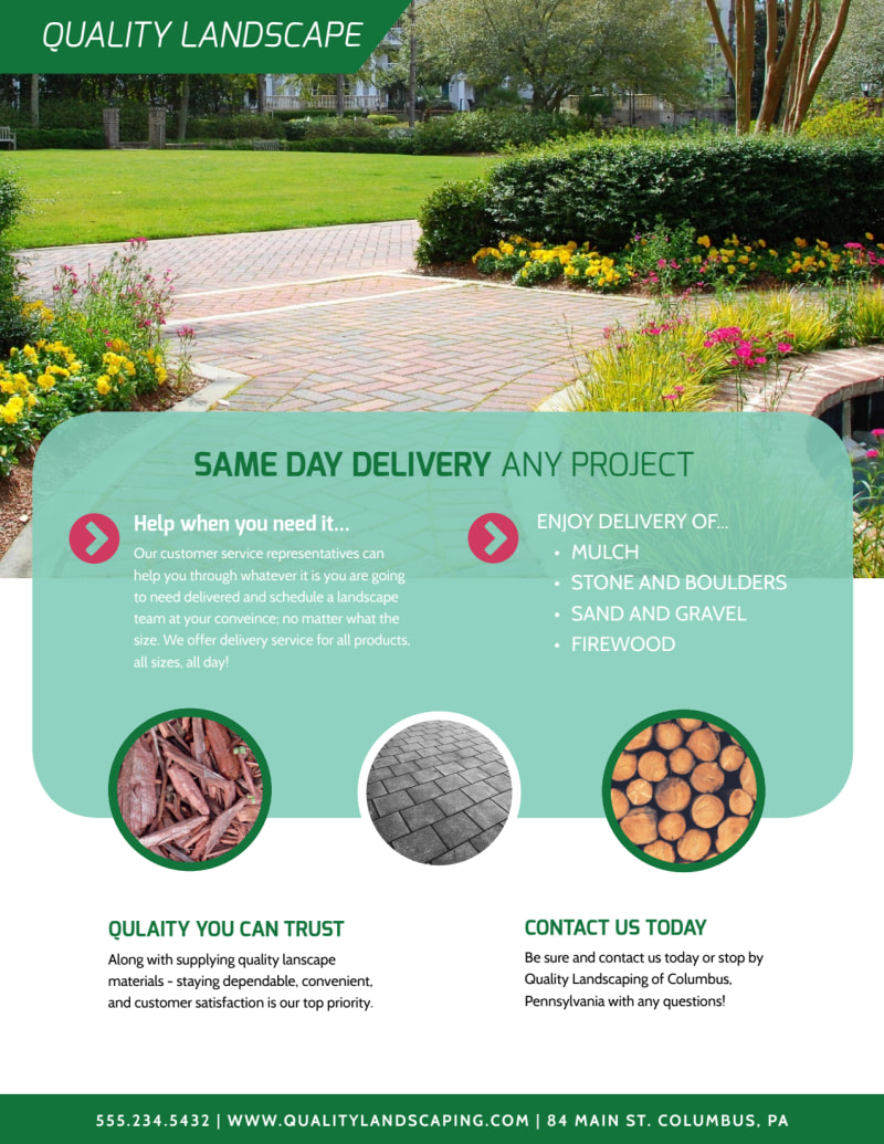 Landscaping  About Us Flyer Template Preview 3