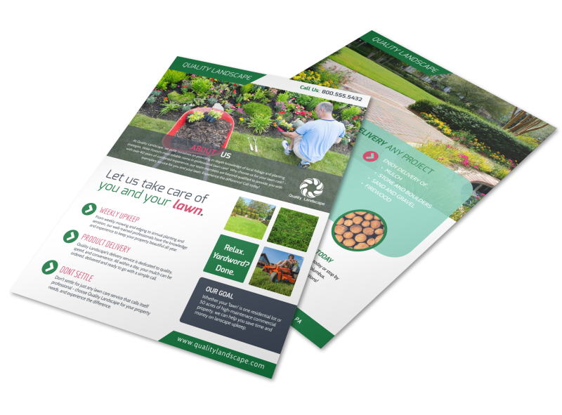 Landscaping  About Us Flyer Template Preview 1